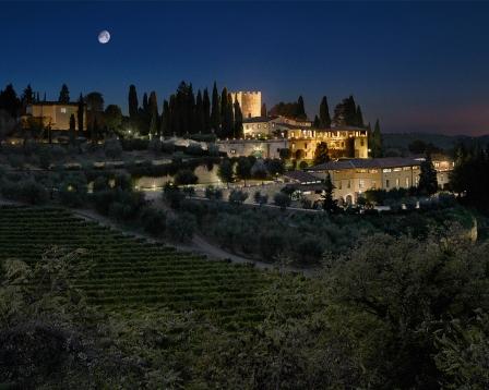 Castello di Verrazzano di notte