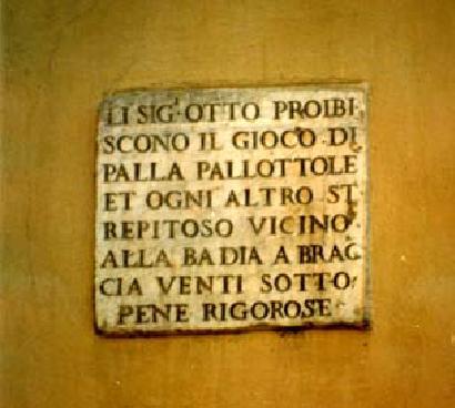Firenze Proibizione Giuoco Palla
